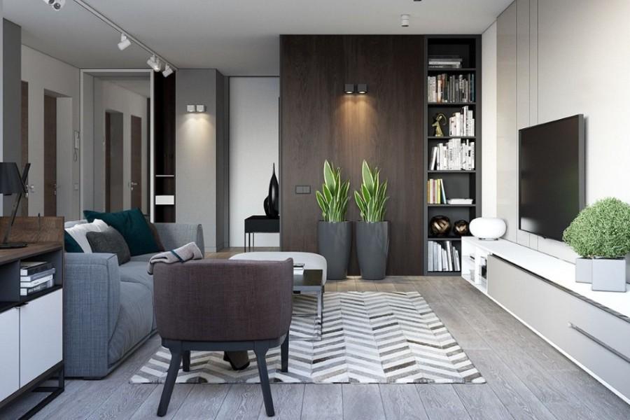 projekt nowoczesnego wnetrza domu